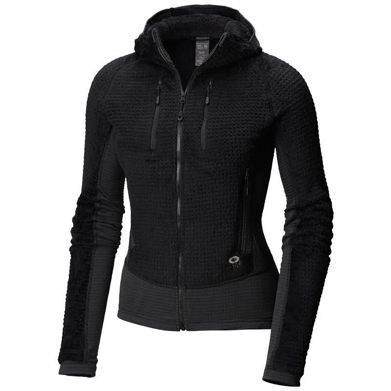 Mountain Hardwear Monkey Grid Hooded Fleece Jacket Black Small 1792951010-S