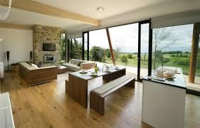 small kitchen living room combo designs dark grey armchair sofa
