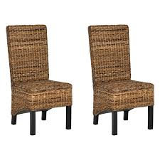 Safavieh Dining Room Chairs by Safavieh Pembrooke Wicker Dining Side Chairs Natural Set Of 2