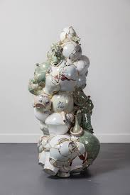 Porcelain by Shattered Porcelain Fragments Fused With Gold By Artist