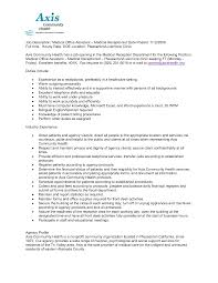 Sample Of Receptionist Resume by Medical Assistant Job Description Sample Medical Assistant