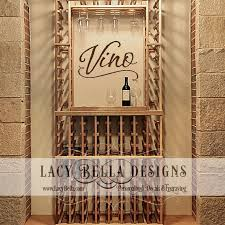 Italian Home Decorations Vino Wall Decal Art Lettering Kitchen Home Decor