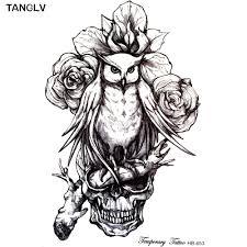 online buy wholesale owl skull tattoo from china owl skull tattoo