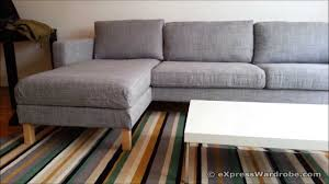 Chaise Lounge With Sofa Bed by Ikea Karlstad Sofa And Chaise Longue Design Youtube