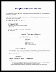 Job Resume With No Experience by Waitress Resume With No Experience Free Resume Example And