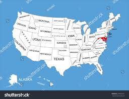 United States Map by Maryland State Usa Vector Map Isolated Stock Vector 309562631