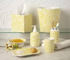 White Bathroom Accessories Set by Bathroom Decorative Yellow Bathroom Accessories With Bathroom