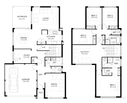 Simple 4 Bedroom House Plans by Simple Modern Double Storey House Plans Escortsea