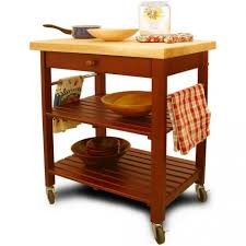 striking kitchen rolling islands table with round wooden drawer
