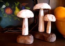 Mushroom Home Decor Wooden Pumpkins Colonial Woodwrights