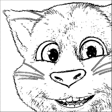 talking tom cat coloring pages wecoloringpage