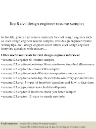 Civil Engineering Resume Samples by Top 8 Civil Design Engineer Resume Samples 1 638 Jpg Cb U003d1431767783