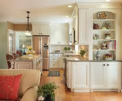 Eat In Kitchen by Family Room Cabinet Kitchen Transitional With Kitchen Island