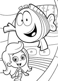 fish and molly bubble guppies coloring pages cartoon coloring