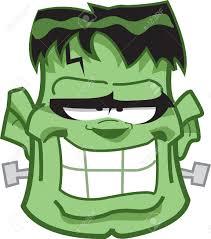 20686928 classic frankenstein monster cartoon head stock vector