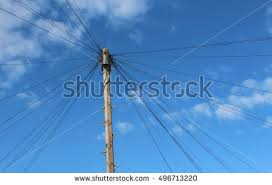 Broadband Stock Photos  Royalty Free Images  amp  Vectors   Shutterstock London  October       A telegraph pole used by British Telecom  BT  to