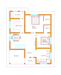900 Sq Ft Floor Plans by Fashionable Design Ideas 2 Bhk House Plans Kerala 10 900 Sqfeet