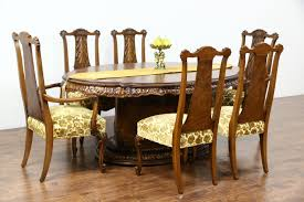 Antique Dining Room Tables by Sold Romweber Louis Xv De Gaulle 7 Pc Vintage Dining Set Table