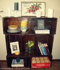 Wooden Crate Bookshelf Diy by Decorating With Apple Crates Diy Apple Crate Bookshelf