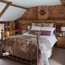 french country bed frame rustic wood bed frames brick accent walls