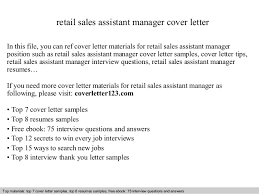 Sample Resume For Retail Manager by Outstanding Cover Letter Examples Retail Store Manager Covering