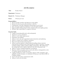 Sample Resume Objectives Warehouse Worker by Objective For Resume Resume For Your Job Application