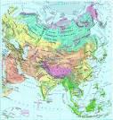 azja mapa fizyczna