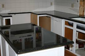 White Kitchen Cabinets With Black Granite Countertops by Kitchen Stunning Decorating Ideas Using Black Granite Countertops