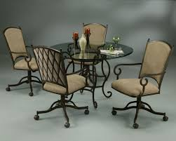 Modern Kitchen Chairs Leather Dining Room Chairs With Rollers Kitchen Ideas Also Table Rolling