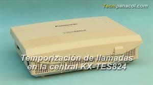 temporización de llamadas en la central kx tes824 youtube