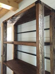 Build Wooden Shelf Unit by Ana White Reclaimed Wood Rolling Shelf Diy Projects
