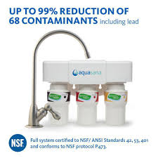 aquasana 3 stage under counter water filtration system with faucet
