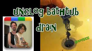 easy unclog bathtub drain youtube