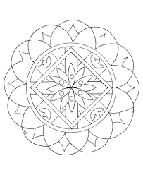 simple mandala 2 mandalas coloring pages for kids to print u0026 color