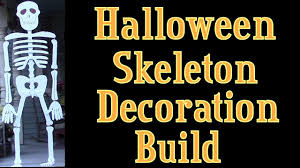 halloween skeletons decorations halloween skeleton lifesize wooden skeleton build youtube