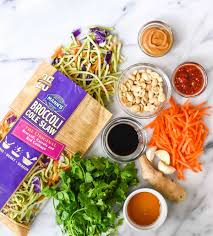 Pasta Salad Ingredients Asian Noodle Salad With Creamy Peanut Dressing
