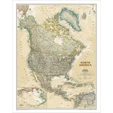 N America Map by North America Executive Wall Map National Geographic Store