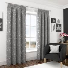 harrogate embroidered leaf fully lined voile curtains white cream