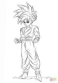 dragon ball z gohan coloring page free printable coloring pages