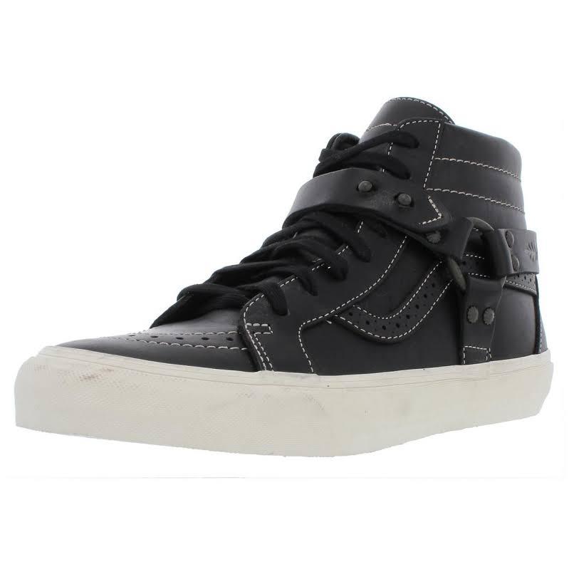 Vans Sk8-Hi Engineer LX Leather Skateboarding Shoes Black 8.5 Medium (D)