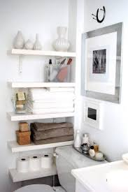 furniture creative makeup storage with shelves in wall mounted