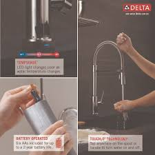 delta faucet 9659t ar dst trinsic arctic stainless pullout spray
