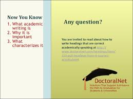 What You Need to Know about Academic Writing
