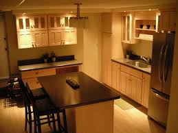 Kitchen Cabinets And Islands by Kitchen Dark Maple Kitchen Cabinet With Light Brown Wall Color