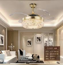 Dining Room Ceiling Fan by 2017 Led Stealth Fan Ceiling Fan Light Modern Minimalist Dining