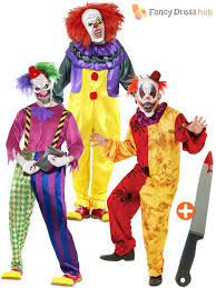 halloween costume mask mens scary killer clown costume mask knife halloween