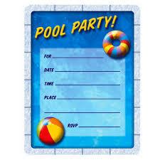 New Office Invitation Card Swimming Pool Invitations Templates Themesflip Com
