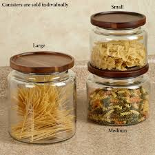 Glass Kitchen Canisters Airtight by Calvina Stackable Glass Kitchen Canisters
