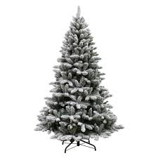 Sears Artificial Christmas Trees Unlit by Jaclyn Smith 7 U0027 Flocked Colorado Pine Tree