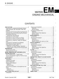 engine manual nissan mr18 piston belt mechanical